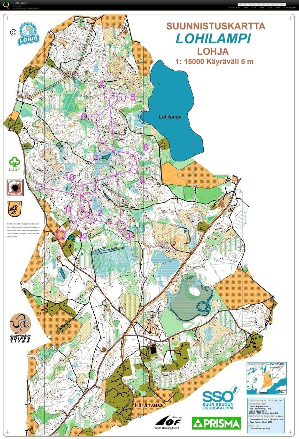 PRISMArastit H20E May 14th 2015 Orienteering Map from Anton Kuukka