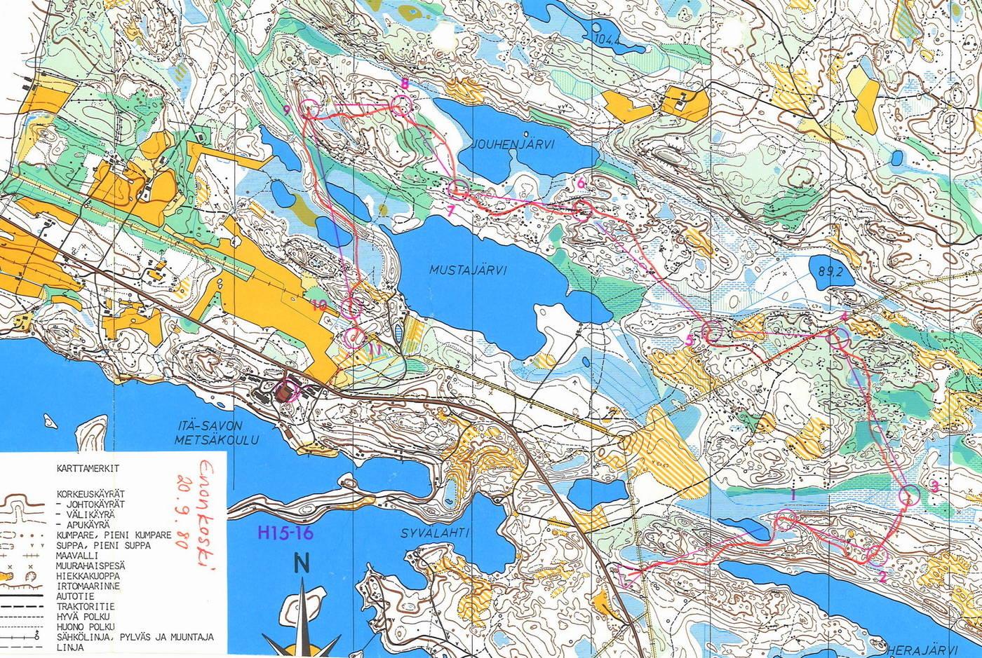 My Doma Digitaalinen Kartta Arkisto Sm Normaalimatka M14 4 7