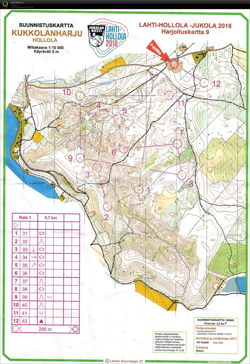 Jukotreeni Ip Kukkolanharju May 5th 2018 Orienteering Map
