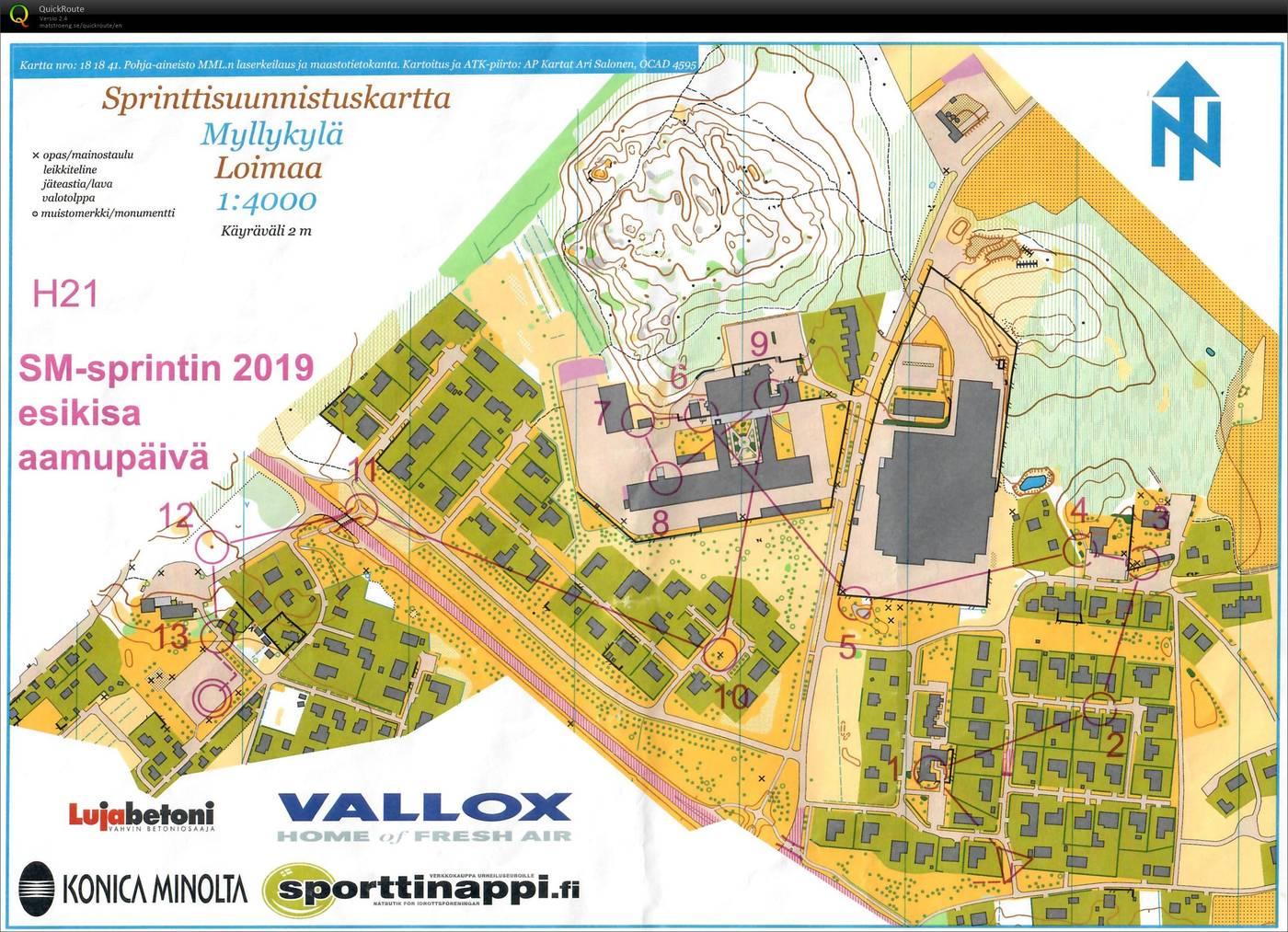 Sm Sprintin Esikisa 2019 Ap September 9th 2018 Orienteering